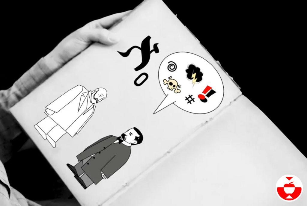 Ilustración de Kronecker enfrentándose a Cantor